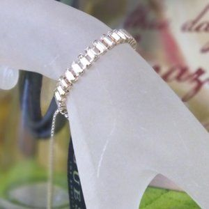 Guess Jewelry - GUESS  Baguette-Crystal Slider Bracelet